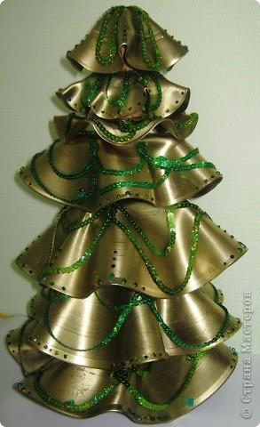 Креативная елка своими руками из дисков